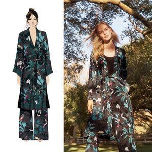 H&M x Anna Glover floral bird print kimono jacket